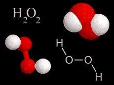 Agua oxigenada, H2 O2 H2 Structural Formula