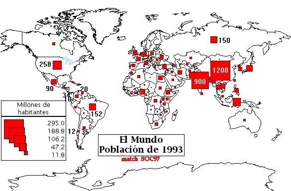 . La población mundial se ha duplicado en comparación con 1960