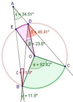 Matematicas ejercicios de ngulos dentro y fuera de la for Exterior a la circunferencia