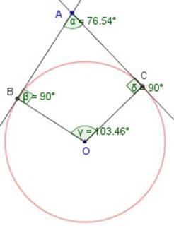 Ngulos en la circunferencia for Exterior tangente y secante