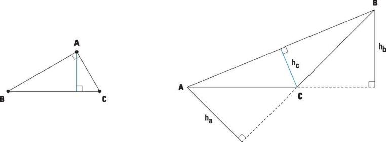 Construcción: Altura y bisectriz